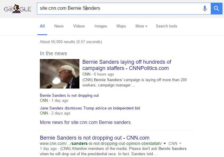 Search Result Image for Google Secret tip 1